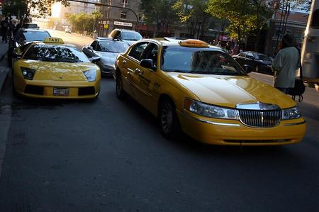 Lamborghini Murcielago taxi cab