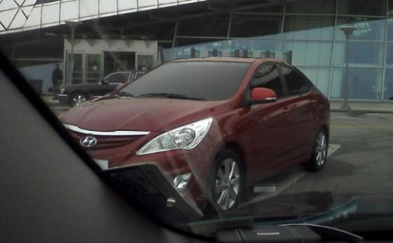 2011 Hyundai Accent Spied