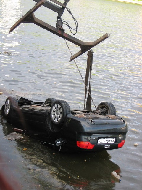 Audi A4 drowned
