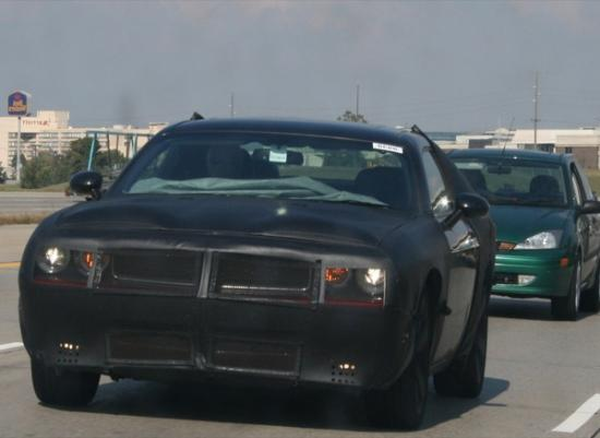 The 2009 Dodge Challenger prototype was spied on public roads in camo.