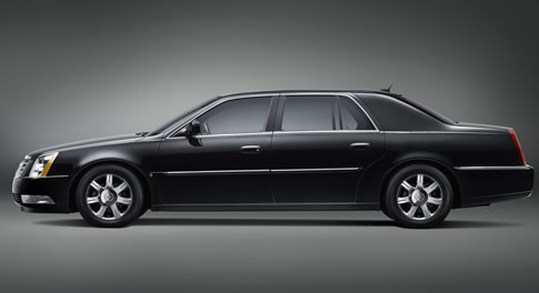 GM unveiled a long-wheelbase version of its Cadillac DTS luxury car called