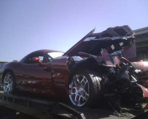Crashed 2008 Dodge Viper