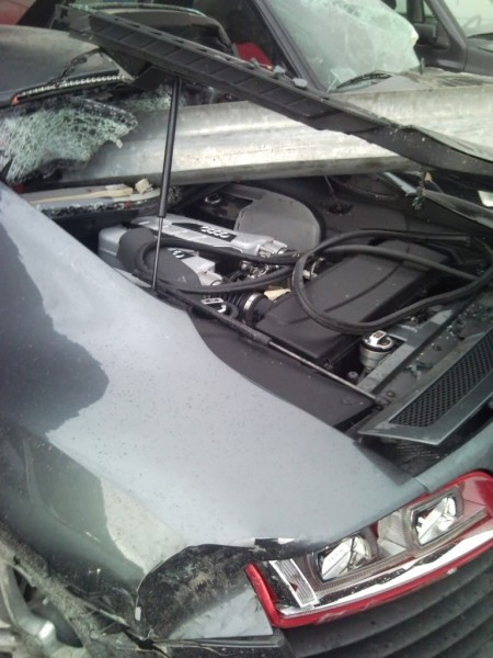 Audi R8 destroyed
