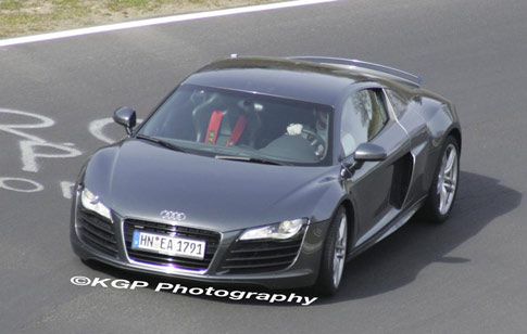 The 2009 Audi R8 V10 for the V10-powered version of the Audi R8 revealing