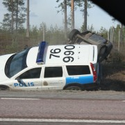 Swedish traffic cops in action