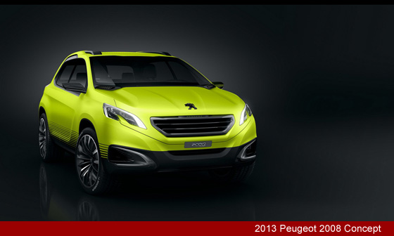 2013 Peugeot 2008 Small Crossover Concept
