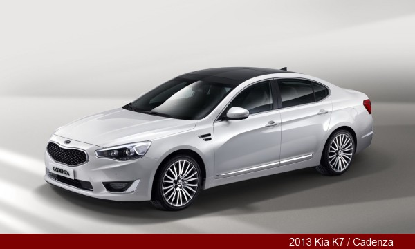 Facelifted 2013 Kia K7 / Cadenza Sedan