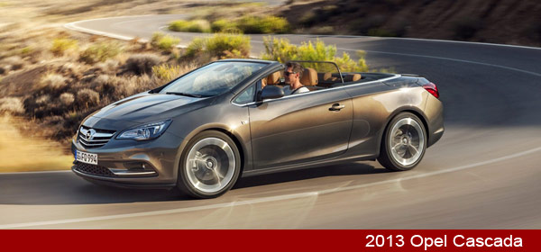 2013 opel cascada convertible carblog. Black Bedroom Furniture Sets. Home Design Ideas