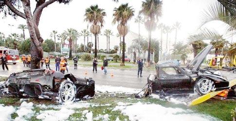 Ferrari Enzo after crash