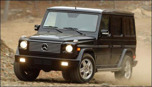 Face-lifted Mercedes G-Class
