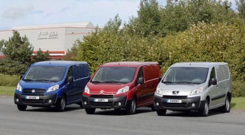 Peugeot Expert, Citroen Dispatch and Fiat Scudo